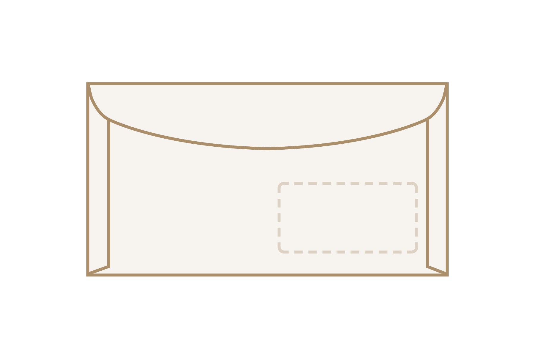 Kuvertier-Briefumschläge 125 x 235 mm mit Fenster