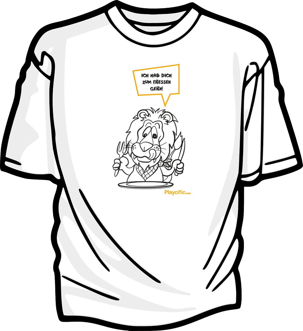 Africa's Big 5 Löwen-T-Shirt