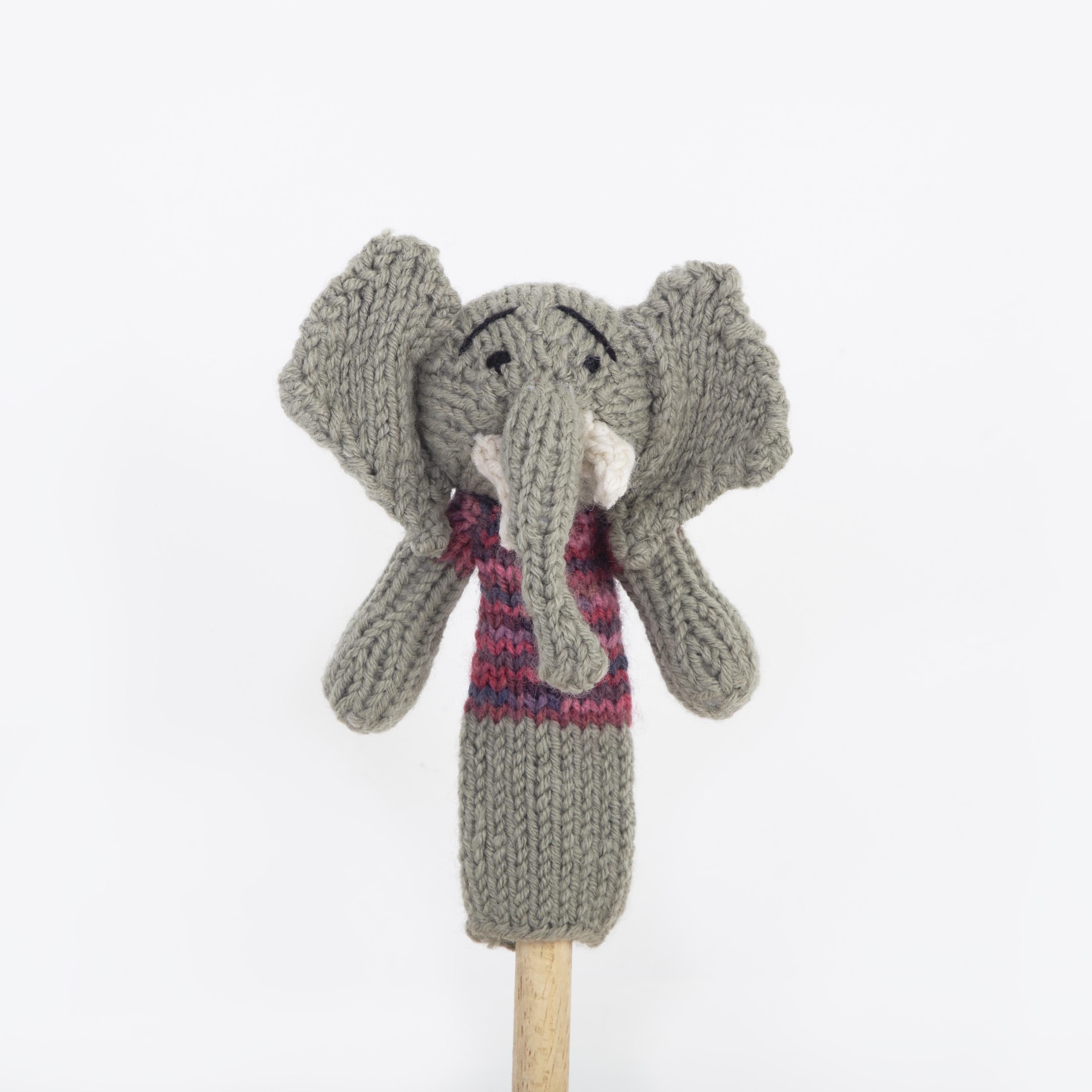 """Africa's Big 5 Fairtrade Elefanten-Fingerpuppe """"Nzou"""""""
