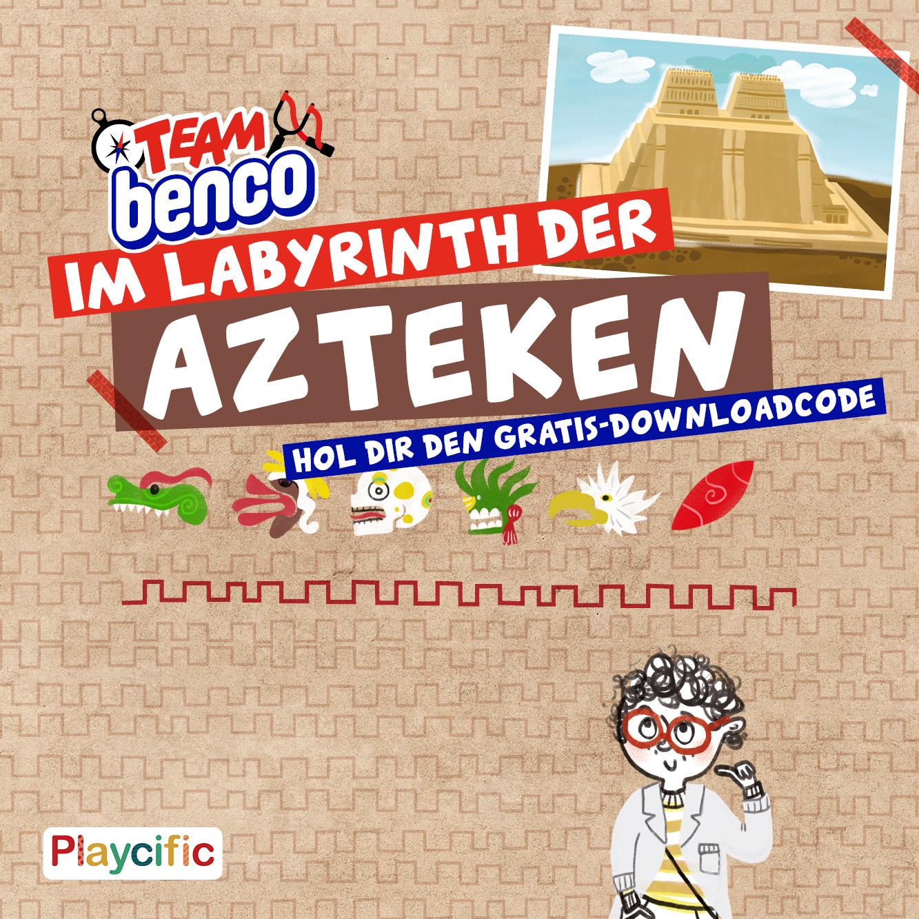 Escape Spiel ab 8 Jahren: Team Benco - Im Labyrinth der Azteken