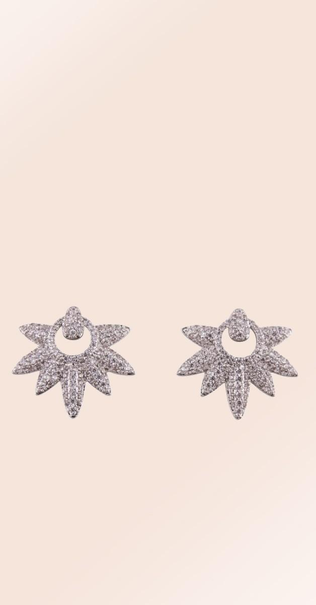 Vintage Ohrstecker - Frances Deco Starburst Earrings