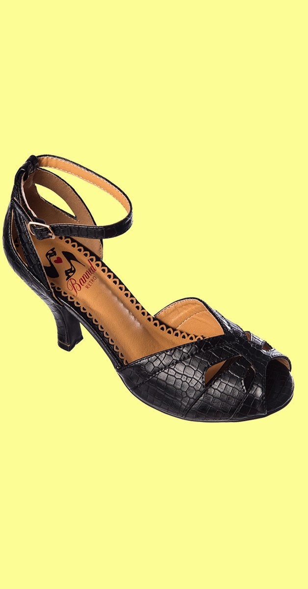Retro Shoes - Indiscreet - Black