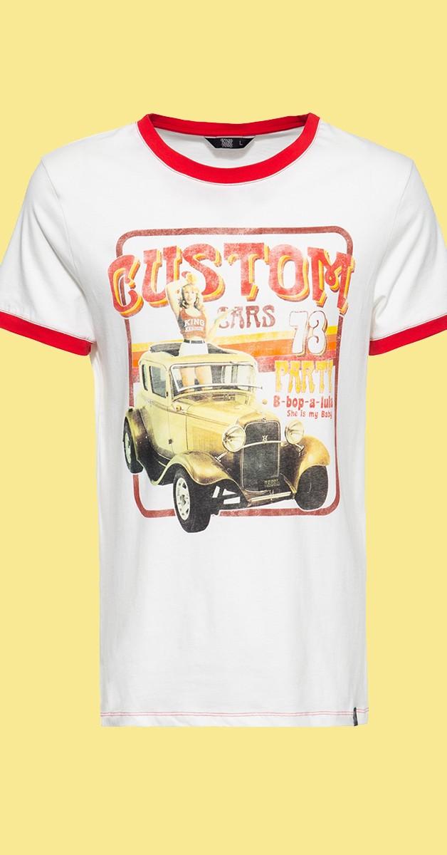 Rockabilly Clothing - Contrast T-Shirt Custom 73