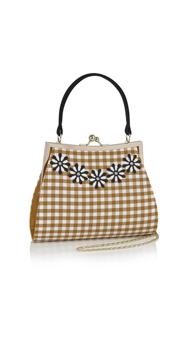 Retro Style Accessories - Handbag Mendoza - Ochre