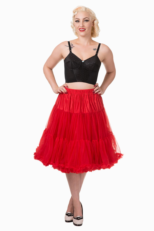 50s Style Swing Rockabilly Dance Petticoat - Rot
