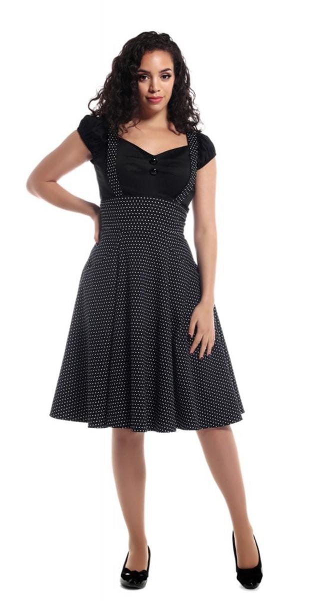 Vintage Mode - Alexa Polka Dot Swing Skirt