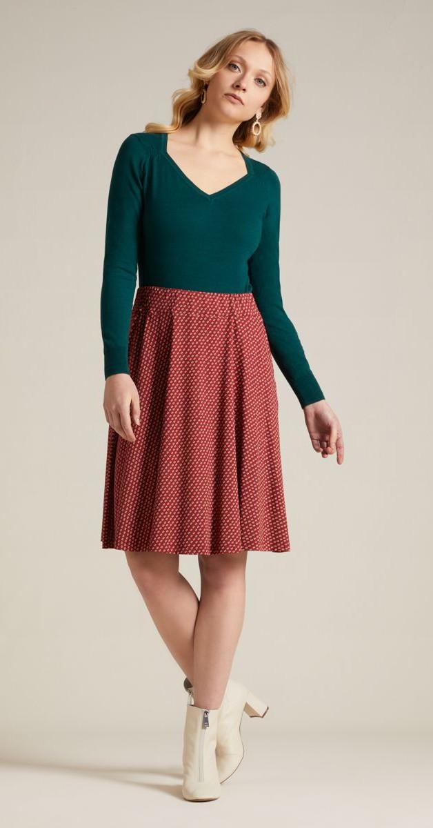 Vintage Clothing- Diamond Knit Top Organic Cottonclub - Pine Green
