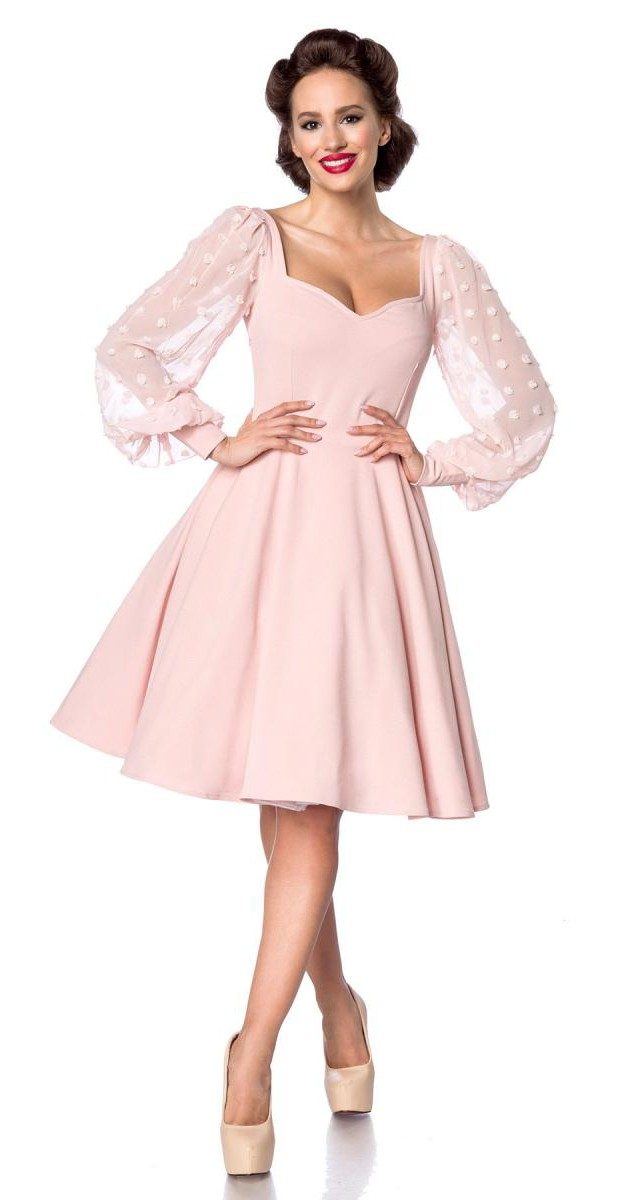 Retro Stil Bekleidung - Swing Kleid - Rosa