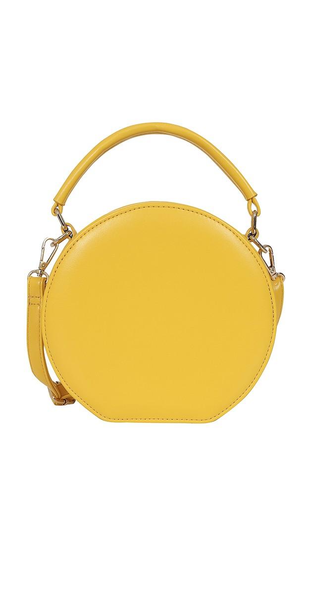 50s Tara Round Bag in Yellow