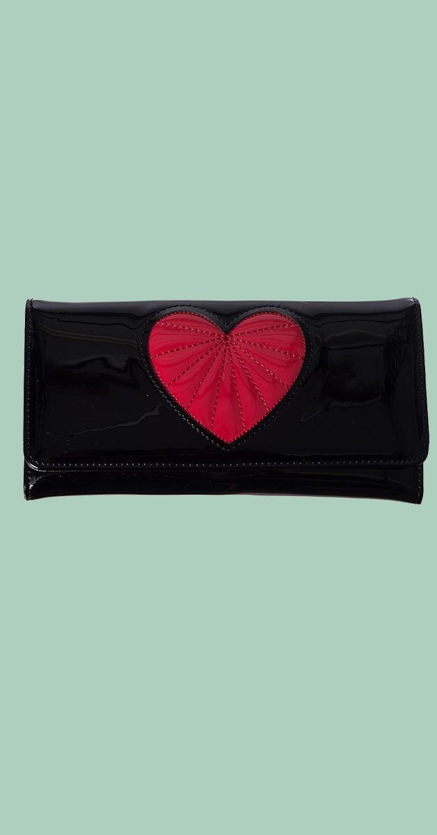 Vintage Accessoires - Heartbreaker Brieftasche - Schwarz