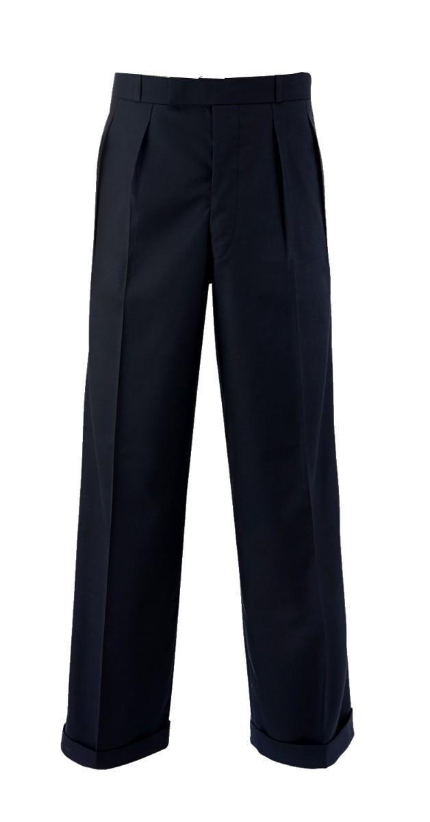 Vintage -40s Fashion Pants- Black