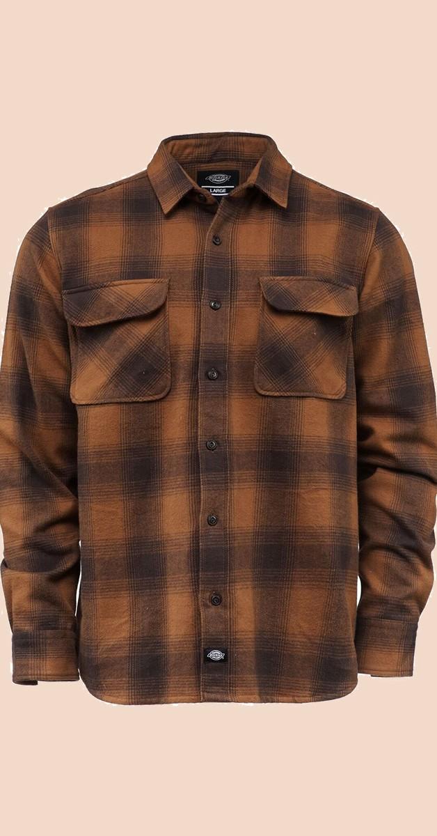 Dickies Shirt - Rockabilly Fashion - Waneta - Brown