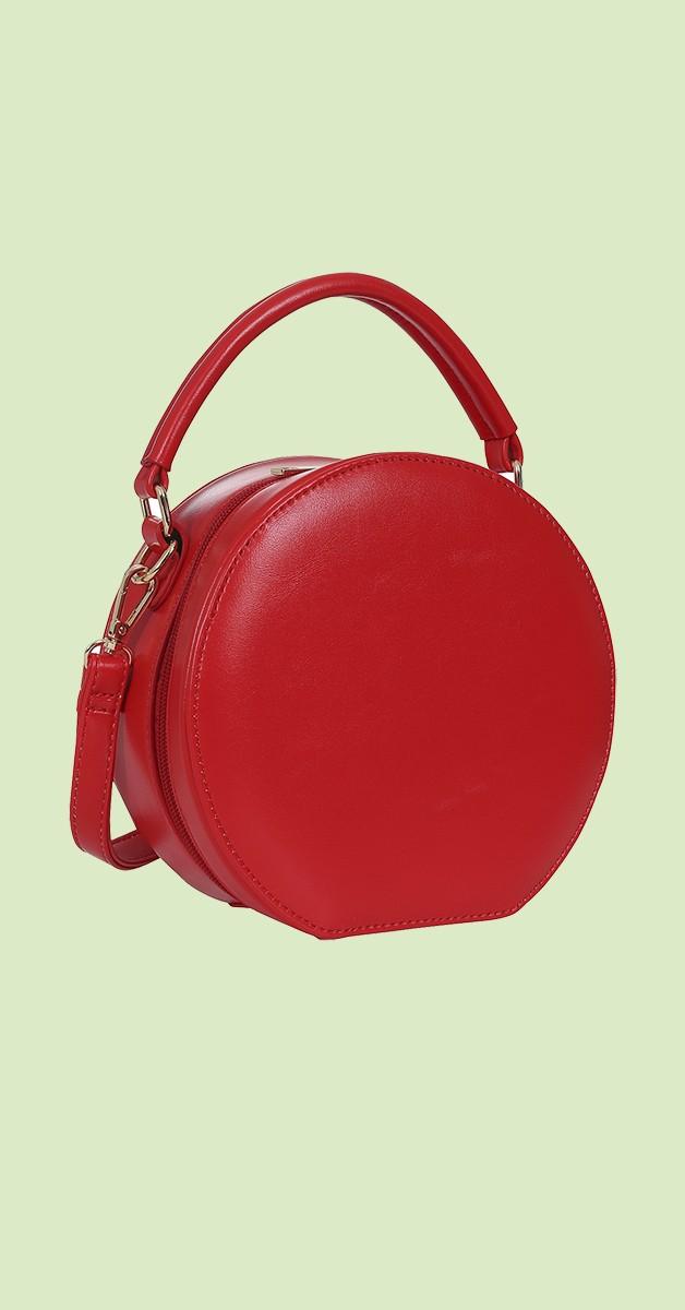 50s Tara Round Bag in Rot