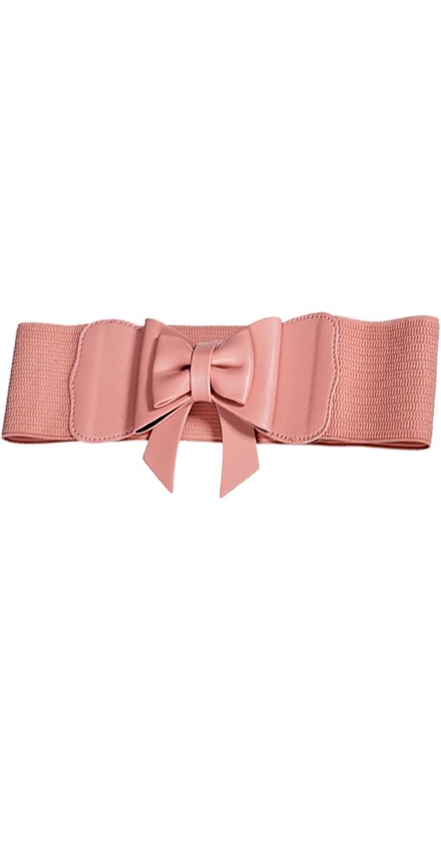Pin Up Accessoires - Play it Right Bow  Gürtel - Rosa