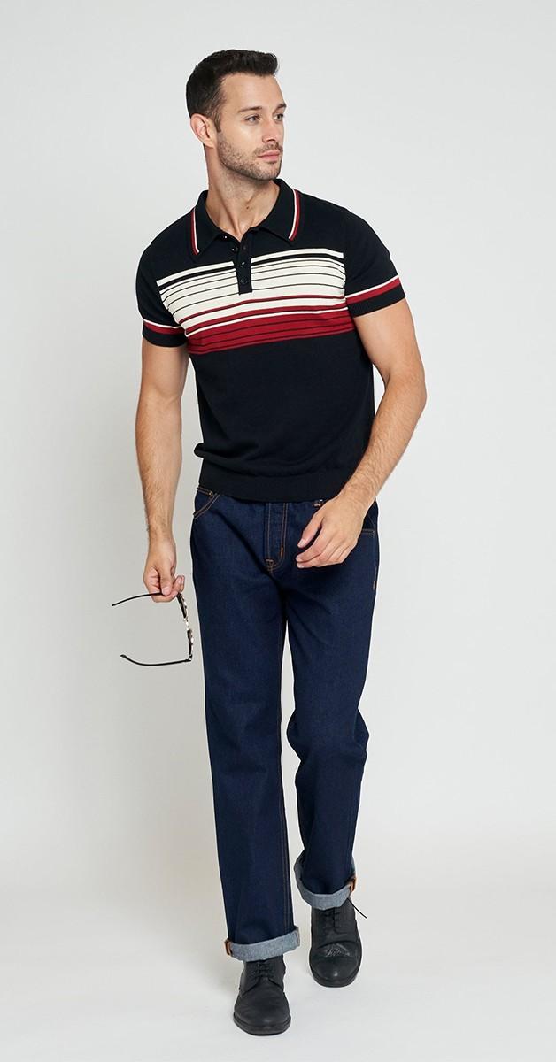 Vintage Style Fashion - Poloshirt - Peru Striped