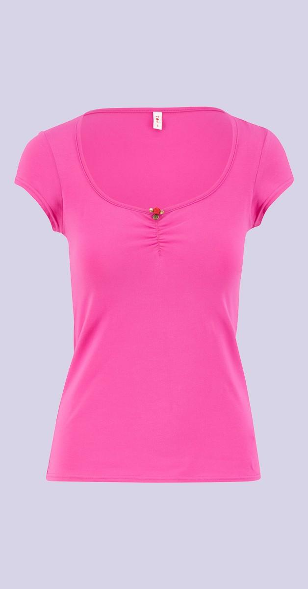 Vintage 50s Style Fashion - Logo Shortsleeve Feminine - Pink