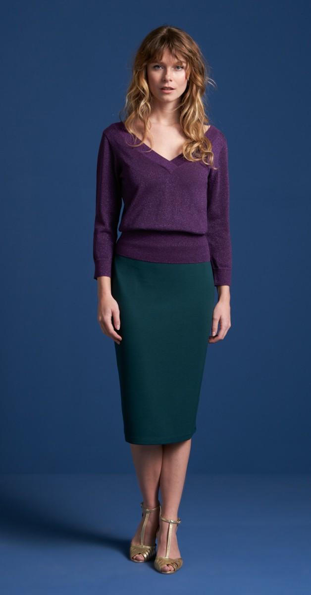 Vintage Fashion - Tube Skirt Milano - Pine Green