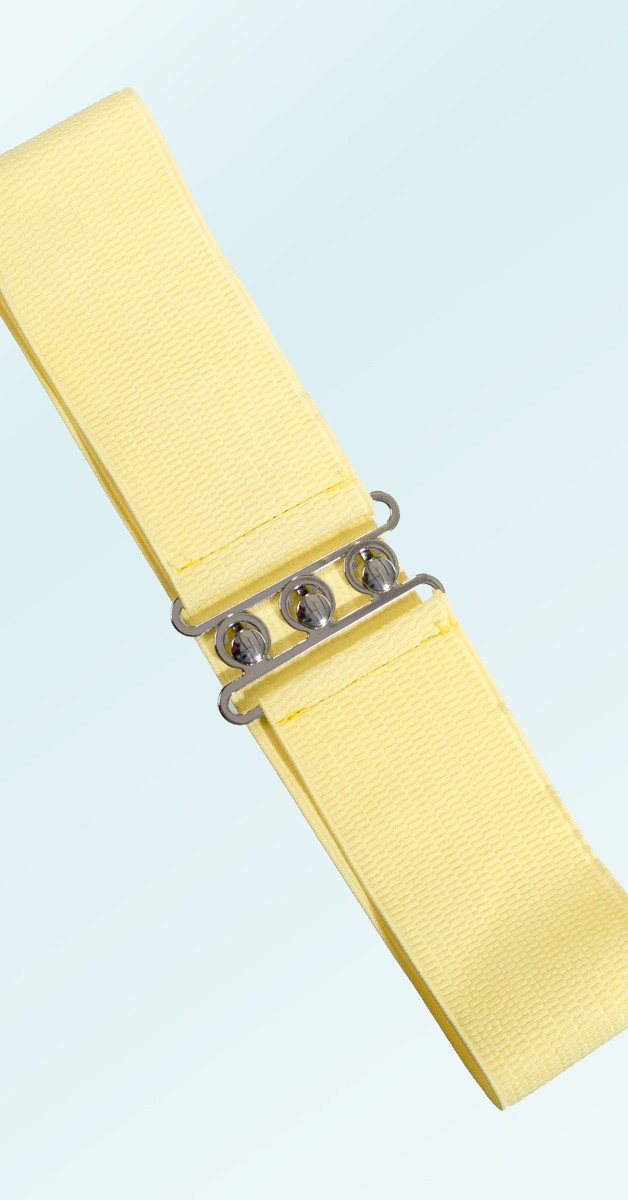 Pin Up Accessoires -50er Jahre Gürtel - Hellgelb