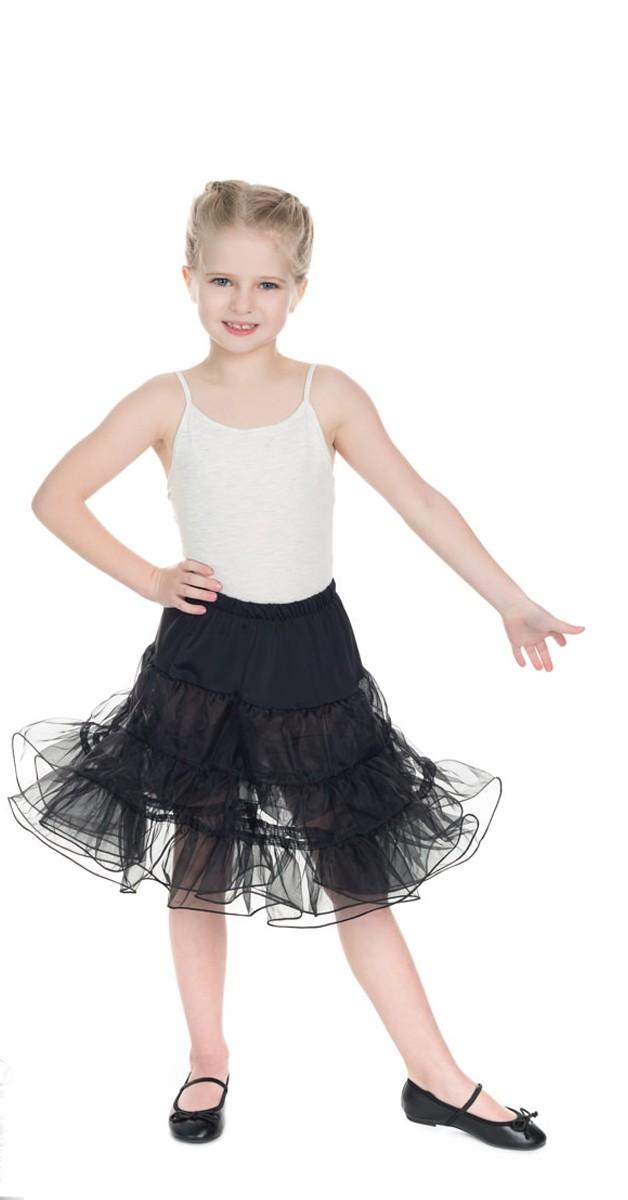 50s Bekleidung für Kids - Petticoat - Schwarz