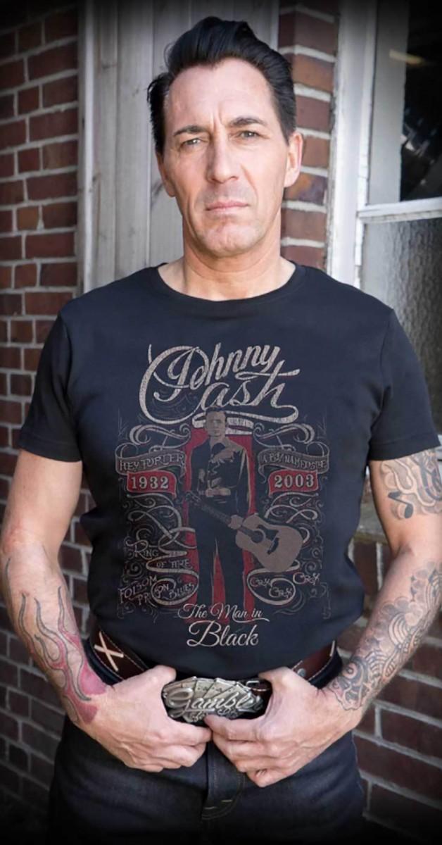 Rockabilly Clothing - T-Shirt - The Man In Black - Black