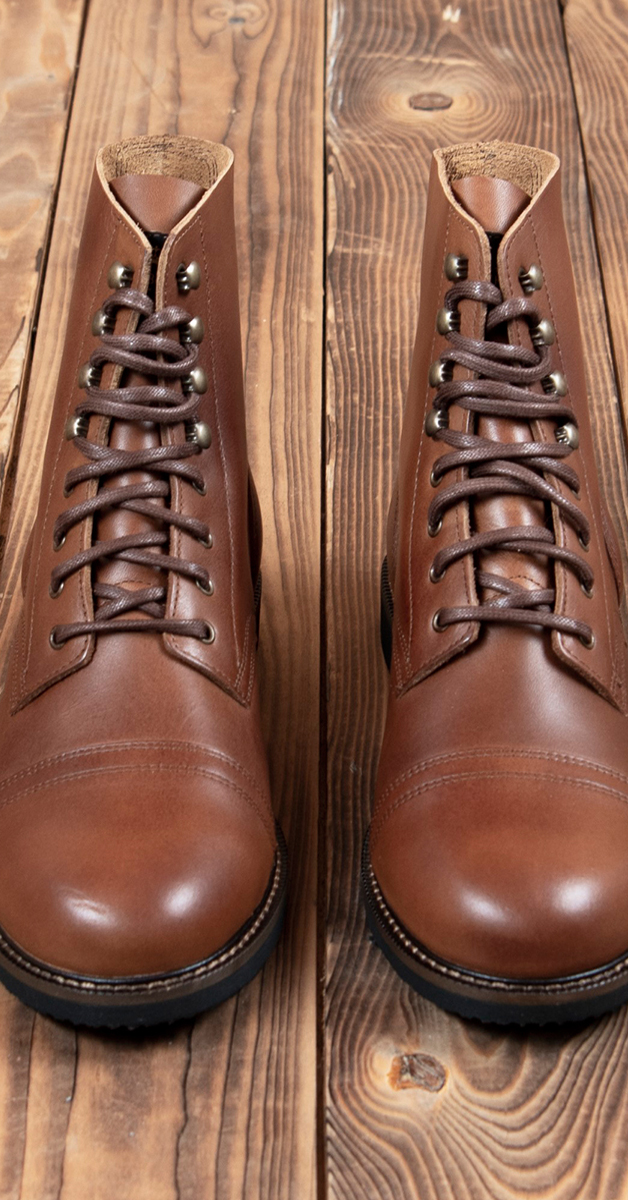 Vintage boots 1966 low quarters redwood brown