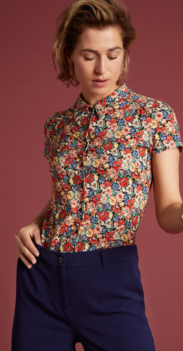 Vintage Style 60's Clothing -  Blouse Santa Rosa