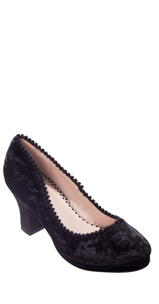 Vintage Style Shoes - Honey Hush - Black