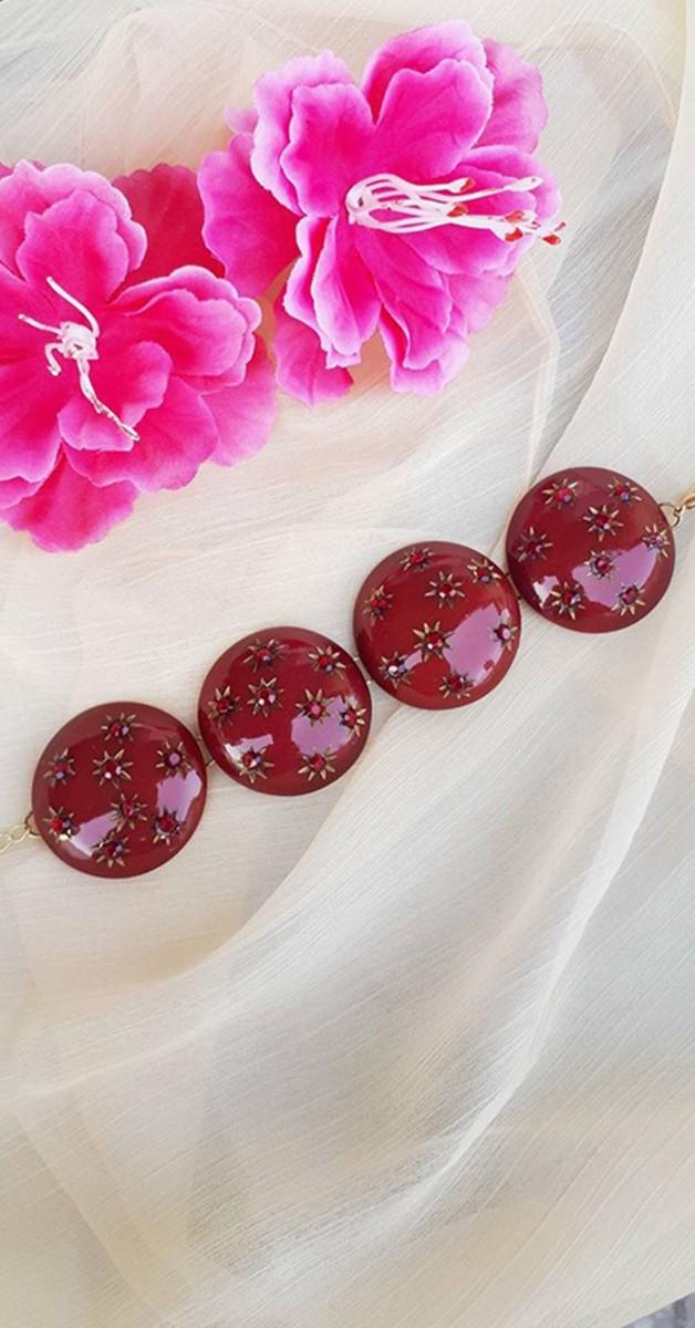 Vintage Jewelry - Greta Diamanté bracelet - Red