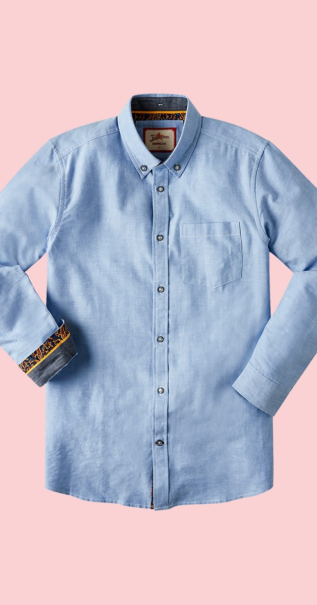 Vintage Retro Hemd - No Ordinary Oxford Shirt - Blau