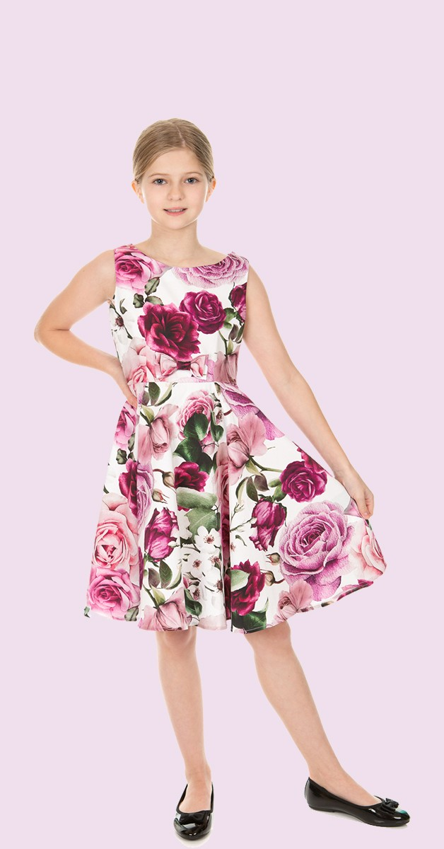50s Kinderkleid Alice Floral Swing Dress