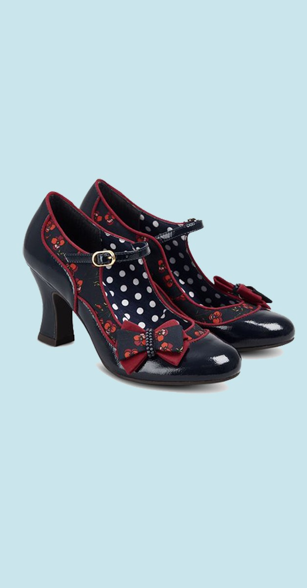 Vintage Style Shoes  - Camilla - Navy