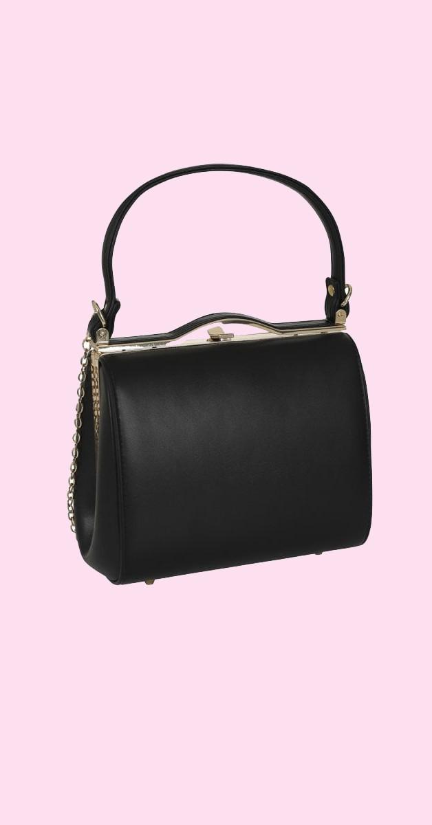 Vintage Retro Handtasche - Carrie Bag schwarz- Collectif