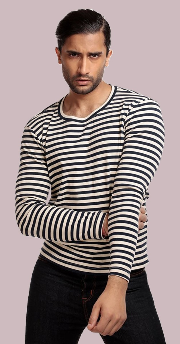 Vintage Style Fashion - Jim Striped - Navy