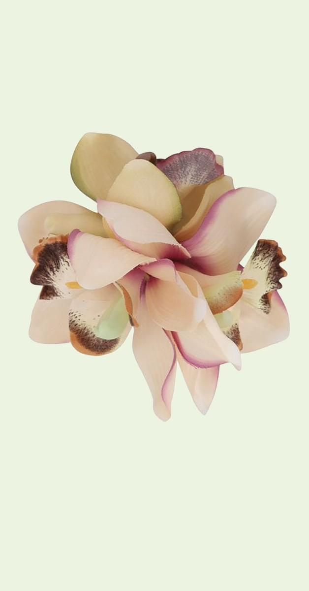 Pin Up Haarclip Aaliyah Orchide Haar Blume - Rosa