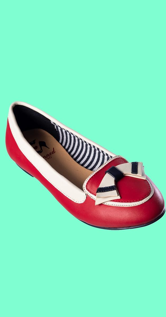 Retro Shoes - St Tropez - Red