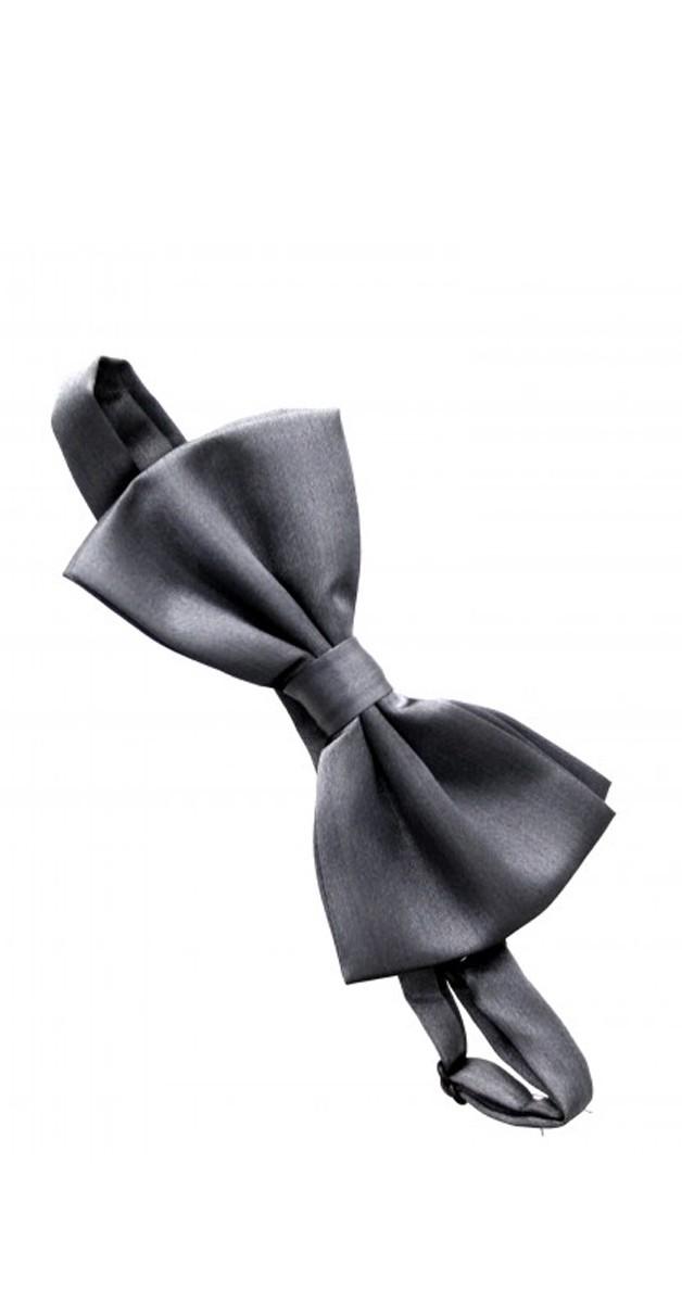 Vintage Accessoires - Bow - Satin - Grey