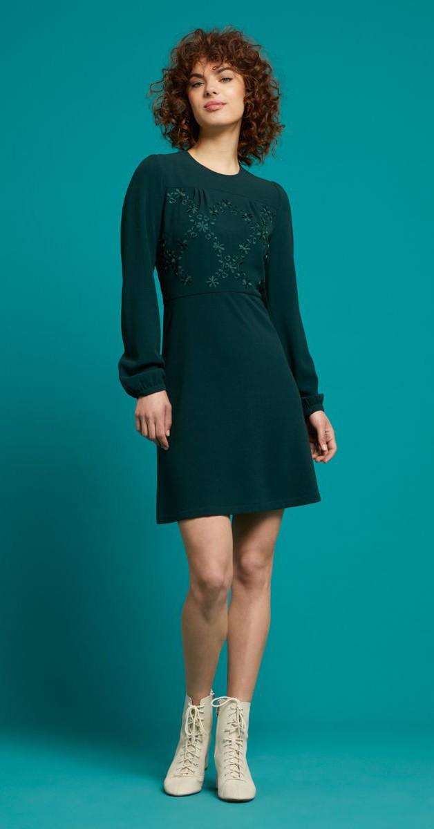 Retro Style Fashion - Polly Dress Woven Crepe