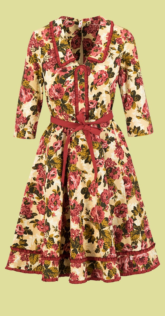 Vintage Stil Mode - hello mary rose robe Kleid