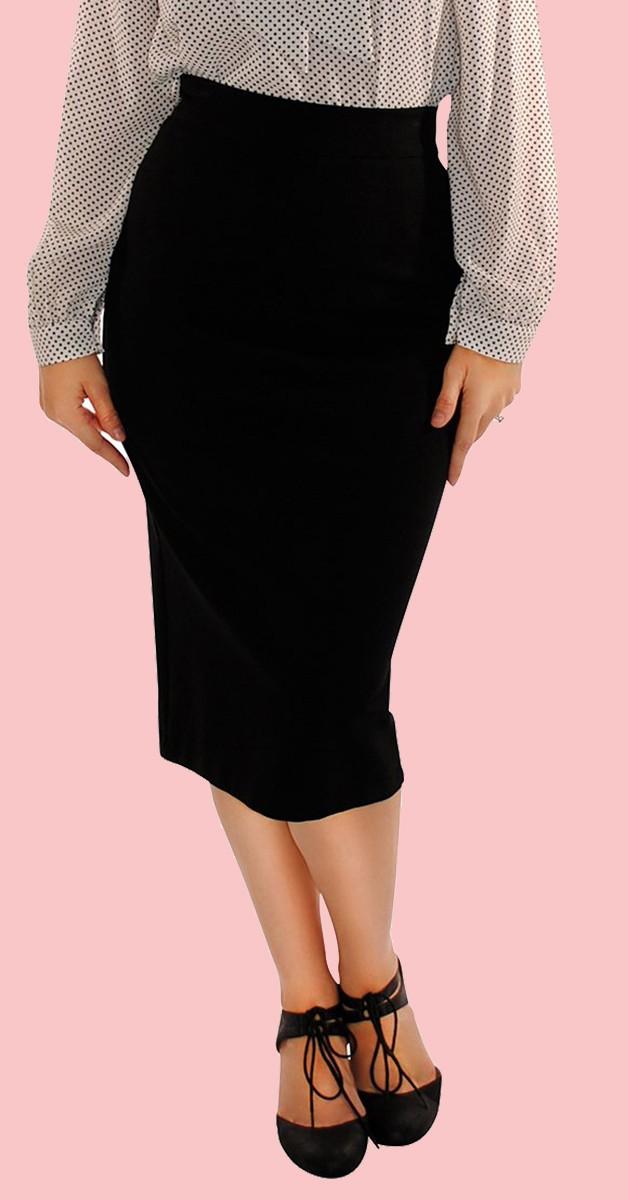 Vintage Stil Rock - Boss Lady Pencil Skirt - Schwarz