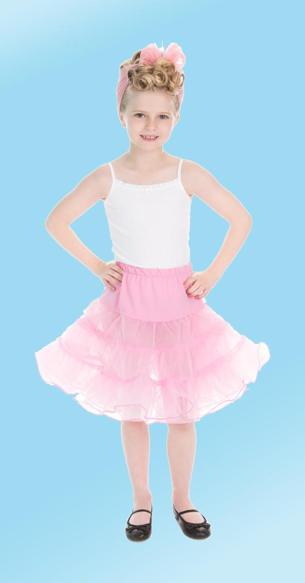 50s Bekleidung für Kids - Petticoat - Pink