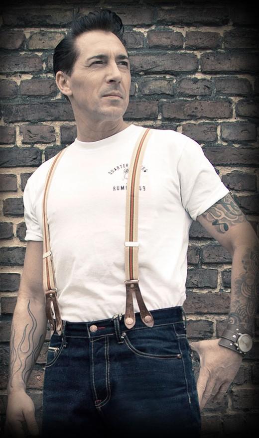 Vintage Accessoires - Suspenders - beige