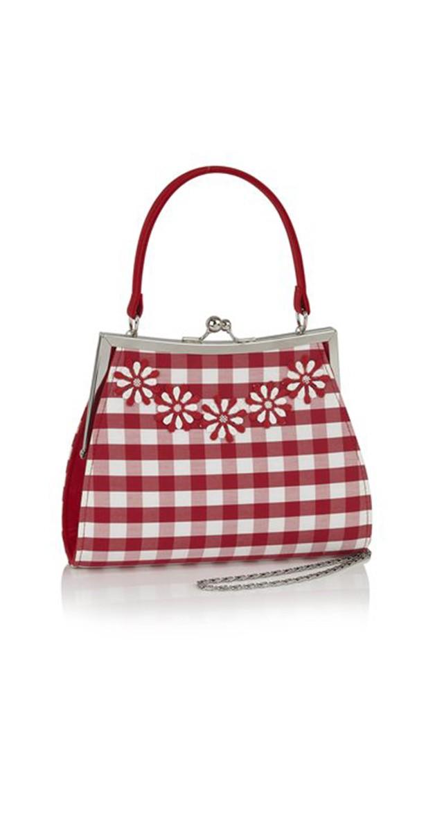 Retro Style Accessories - Handbag Mendoza - Red