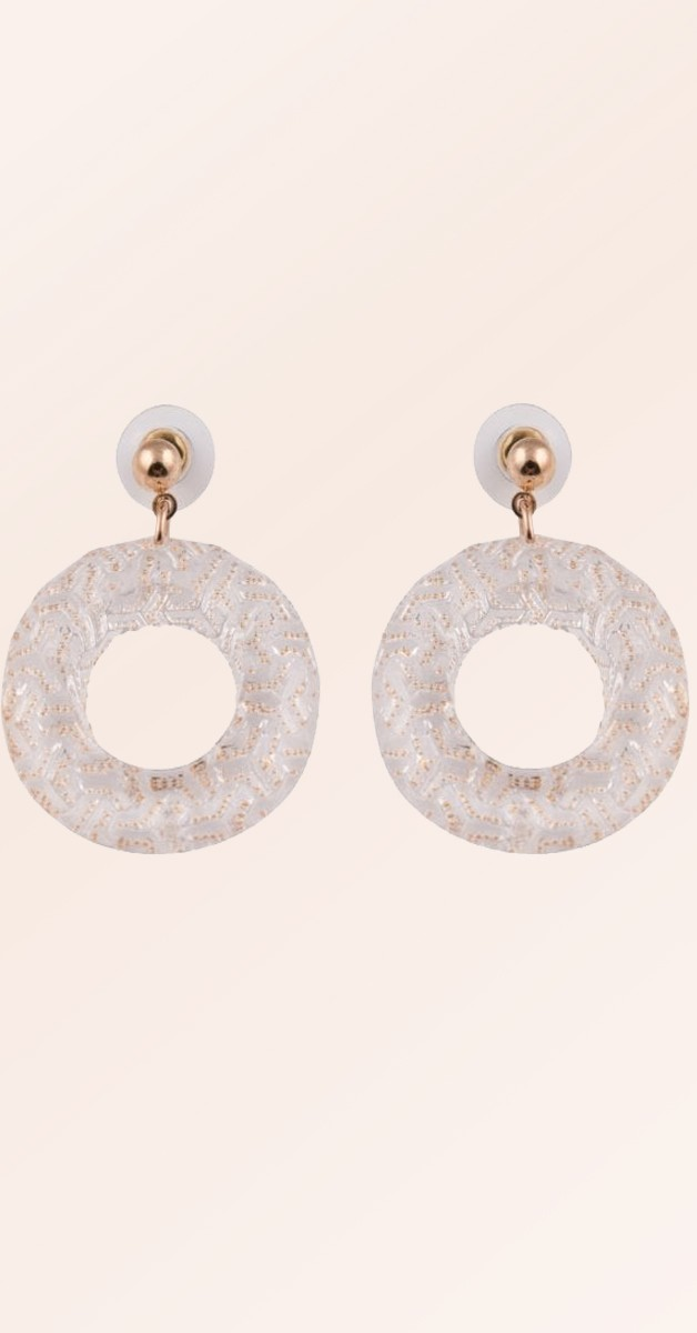 Vintage Creolen - Sparkly Fakelite Hoop Earrings