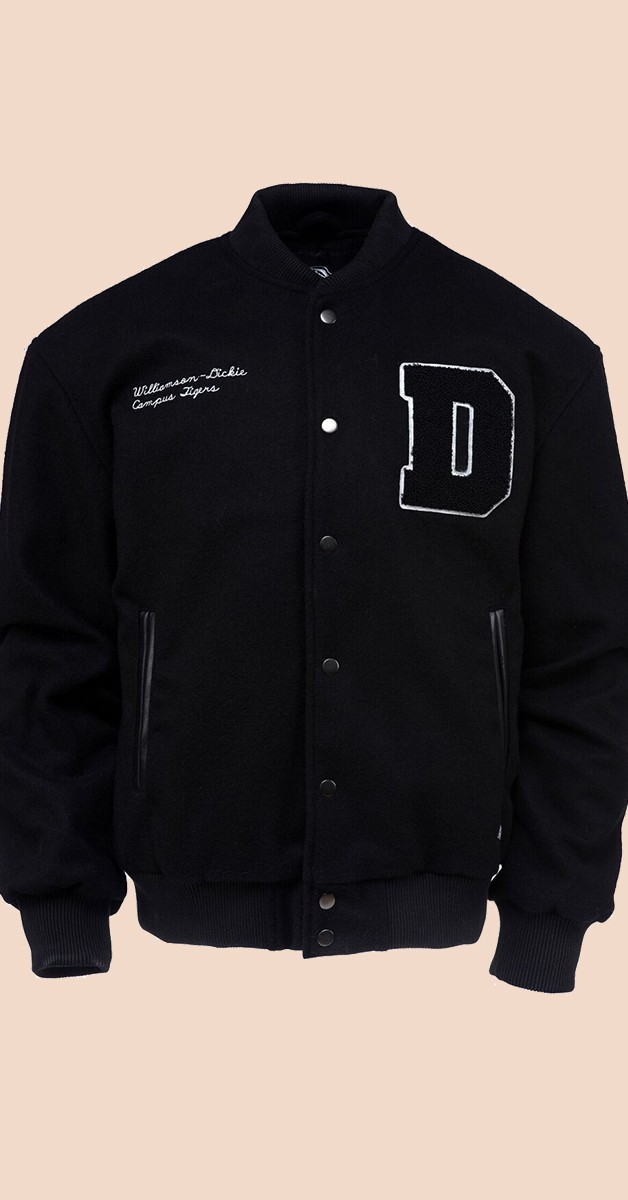 Vintage Fashion - Varsity Jacket - Black