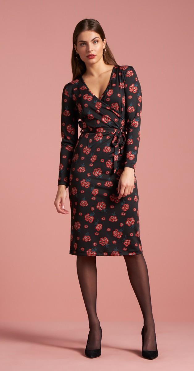 Retro Style  - Anja Dress Fontane Schwarz