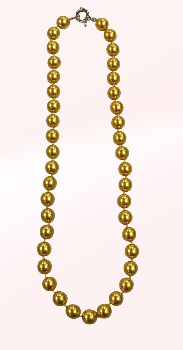 Vintage Accessoires - Perlenkette - Gold