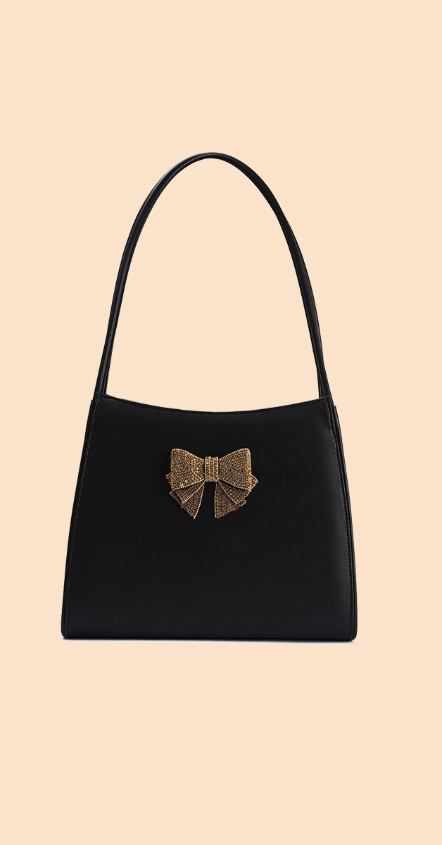 Vintage Retro Bag -Yvette Soiree - Black