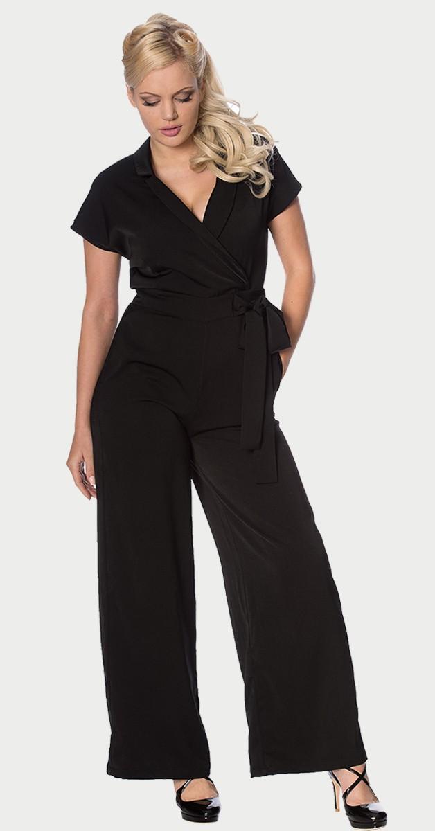 Vintage fashion- Occasion Jumpsuit- Black