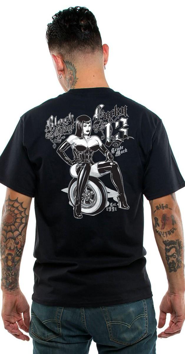 Rockabilly Clothing - Lucky 13 Men's T-Shirt - Natascha