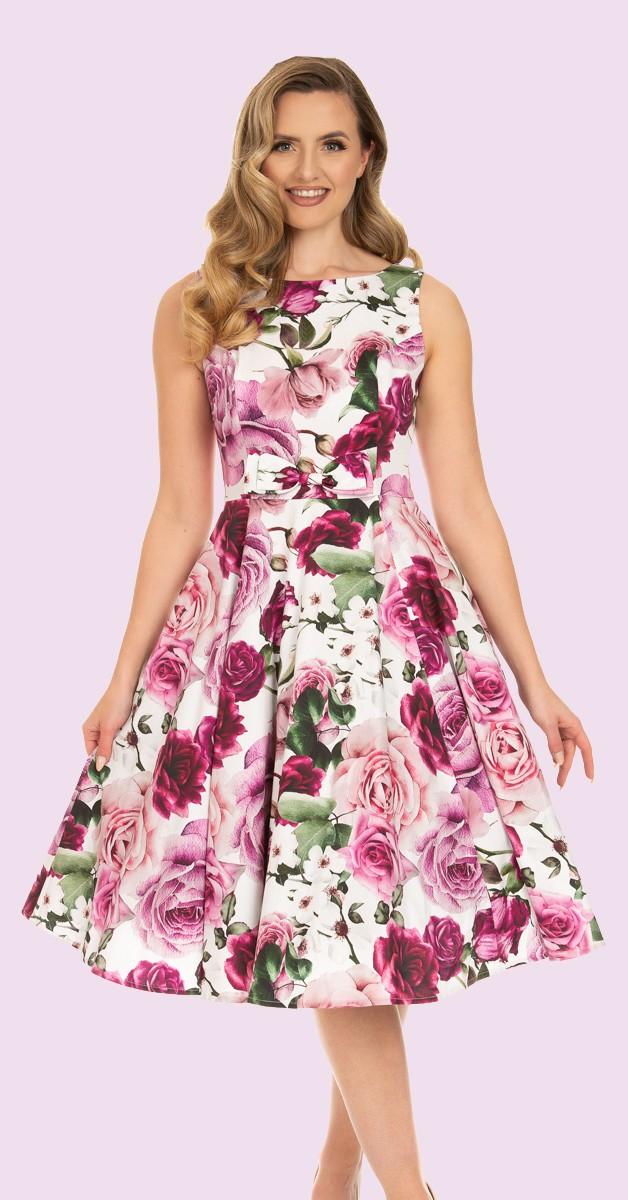 50s Alice Floral Swing Dress